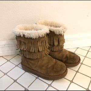 UGG fringe leather boots 11 Scarlette Chesnut